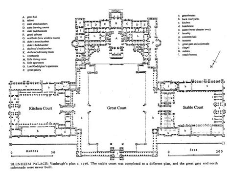 glamis castle floor plan blenheim blenheim palace british history online if i