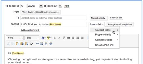 Real Estate Professionals Schedule Email Template