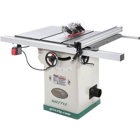 10 quot hybrid table saw with t shaped fence grizzly industrial