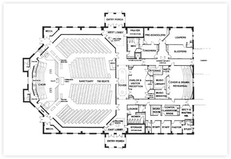 floor plan of church free church building plans church designer church