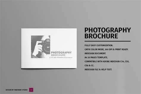 photography brochure templates minimal photography brochure vol 01 brochure templates