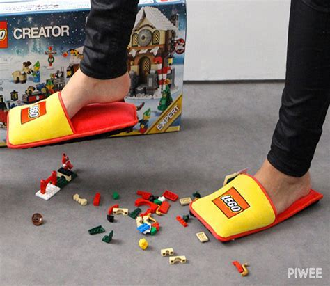 These Lego Slippers Ensure You'll Never Injure Your Feet
