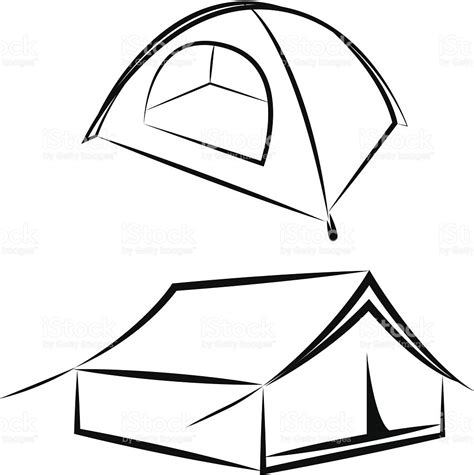 doodle dome draw vector drawing of the tent stock vector 452235495 istock
