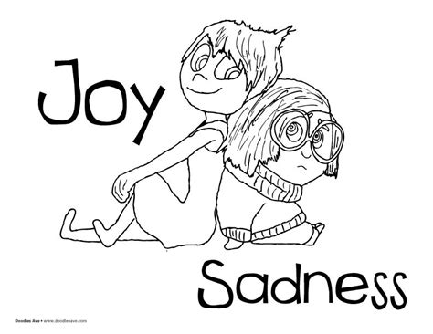 coloring pages inside out sadness inside out coloring sheets joy and sadness pixar
