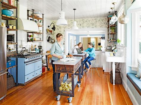 Red Kitchen Cart Island quirky kitchen design ideas to steal from hgtv magazine hgtv