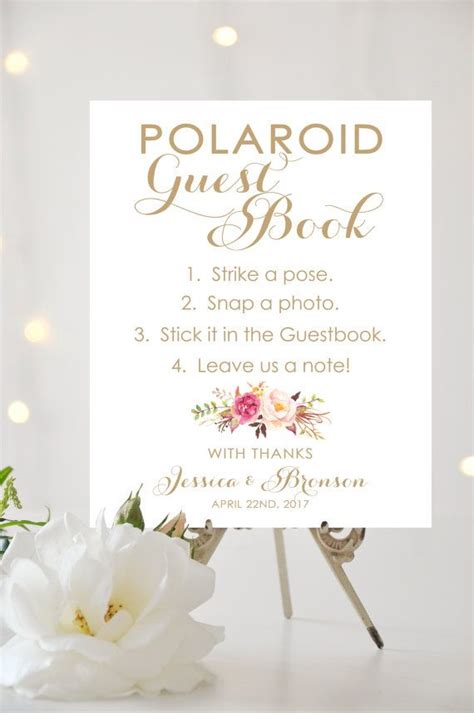 Free Wedding Guest Book Design by 25 Best Ideas About Polaroid Guest Books On