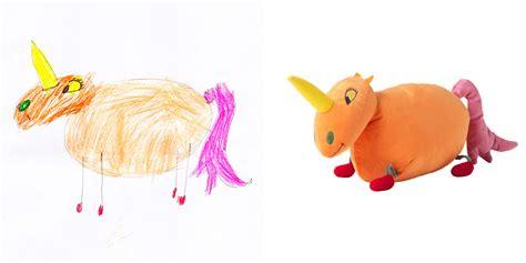 Ikea Sagoskatt Boneka Unicorn Oranye ikea transforms drawings into toys for charity soft toys 2015 rowland