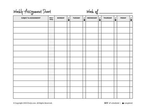 homeschool weekly assignment planner homeschool kids
