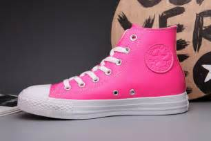 colorful converse colorful pink converse all chuck leather high