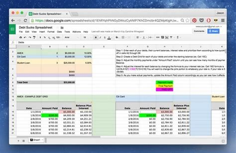Credit Card Amortization Template Credit Card Amortization Spreadsheet Buff