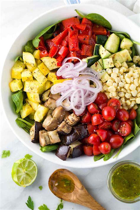 vegetables or salad grilled vegetable salad with citrus dressing gavin