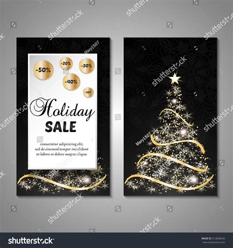 christmas trees for sales flyers set stylized tree invitation flyer stock vector 513848236
