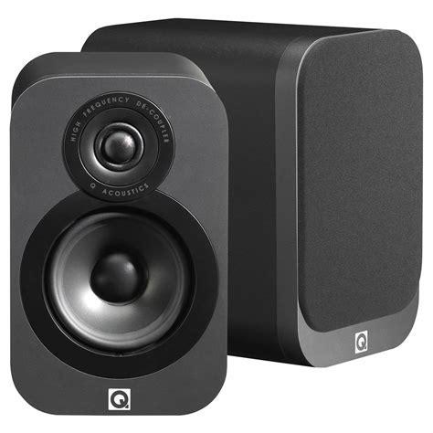 Speaker Q Acoustics q acoustics 3010 bookshelf speakers graphite black pair audiophonics