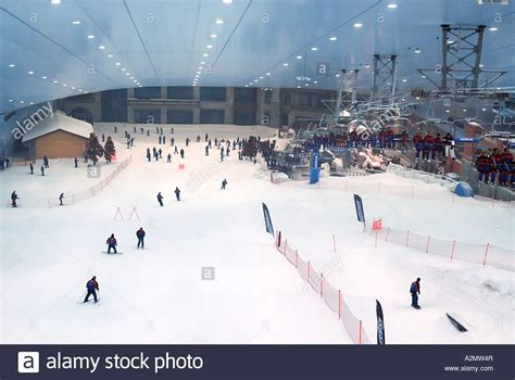 snow dome artificial ski slope in dubai united arab