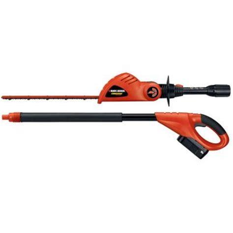 black decker 18 in 18 volt electric cordless pole hedge