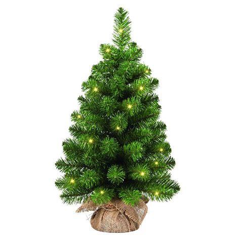 gardman mini artificial prelit christmas tree 45cm height