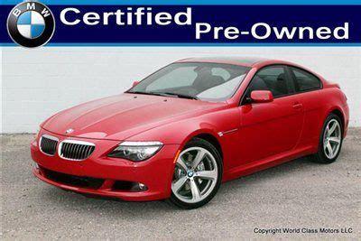 buy used bmw certified cpo 39k mi 2009 650i 06 07 08