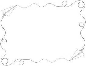 How To Make A Paper Border - clipart paper airplane border