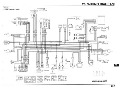 1997 honda shadow spirit 1100 wiring diagram wiring