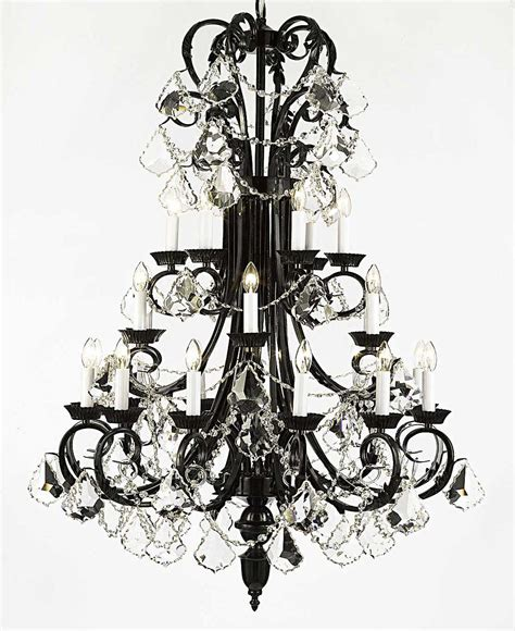 wrought iron foyer light a84 b13 724 24 gallery wrought with crystal foyer