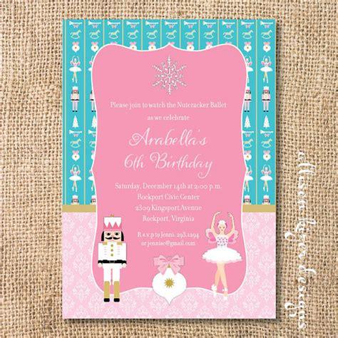 printable nutcracker invitations items similar to nutcracker ballerina printable invitation