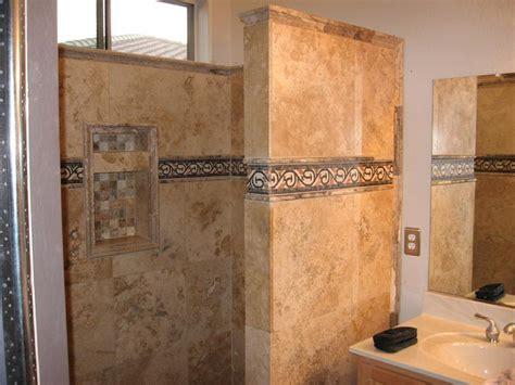 travertine tile bathroom shower travertine shower housepr0n pinterest