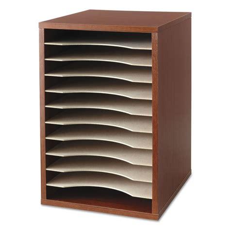 Vertical Desk Organizer Safco Vertical Desktop Literature Organizer Saf9419cy Ebay