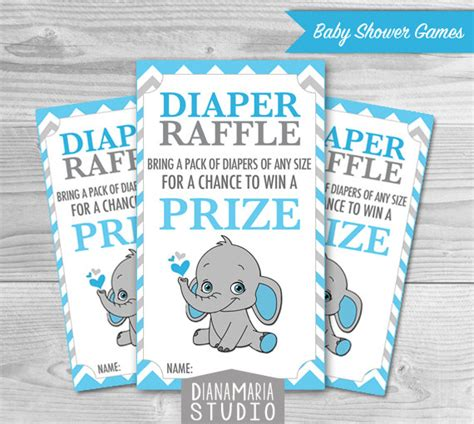 free printable diaper raffle tickets elephant elephant diaper raffle tickets printables for baby boy shower
