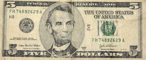 abraham lincoln on the five dollar bill lincoln by vidal the tacoma ledger