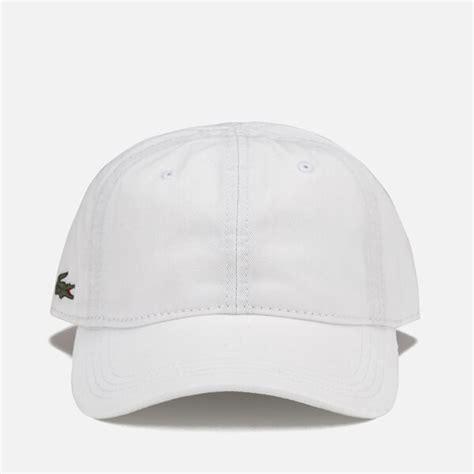 Lacoste Baseball Cap In White lacoste s baseball cap white mens accessories
