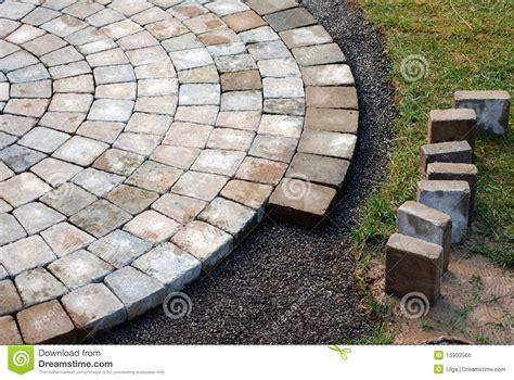 Laying A Circular Patio by Laying Patio Bricks Royalty Free Stock Image Image 13903566