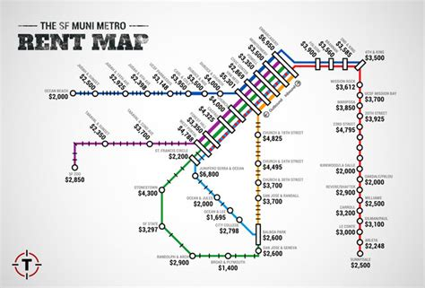 san francisco rental map sf muni metro rent map