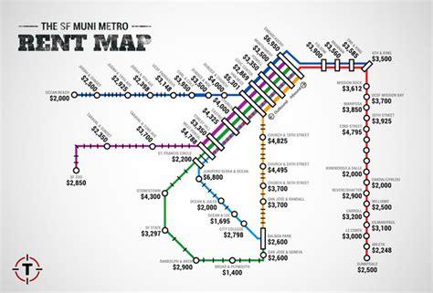 san francisco rent map sf muni metro rent map