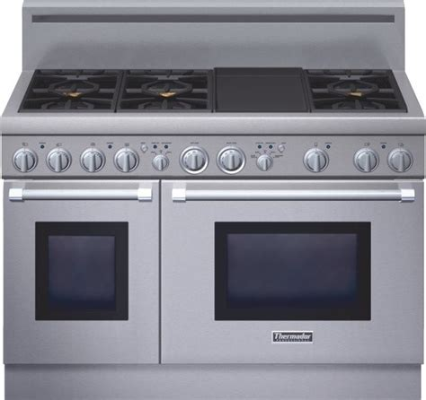 Oven Gas Standar thermador professional series 48 inch gas standard depth range prg486gdh gas ranges and