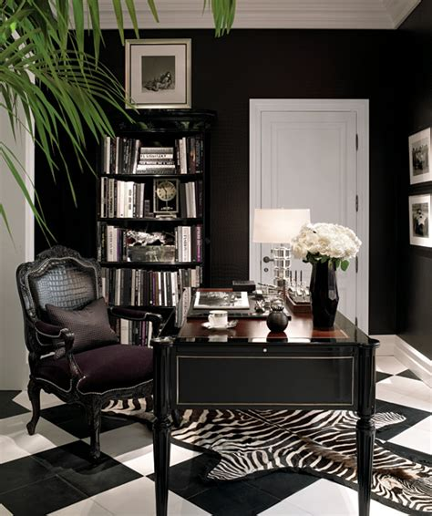 black home decor ralph lauren black decorating office ideas zebra print rug