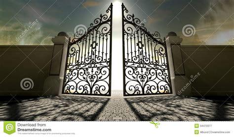 heavens open ornate gates stock illustration illustration