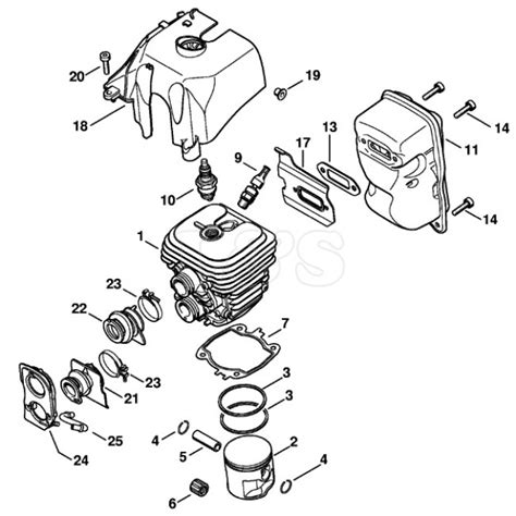 stihl ts350 parts diagram cylinder assembly for stihl ts410 l s engineers