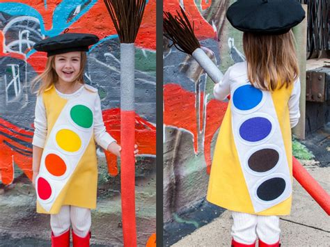 Handmade Costume Ideas - how to make a watercolor paint box costume how