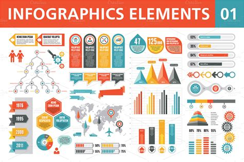 design online infographics infographics elements 01 infographics 100 free fonts