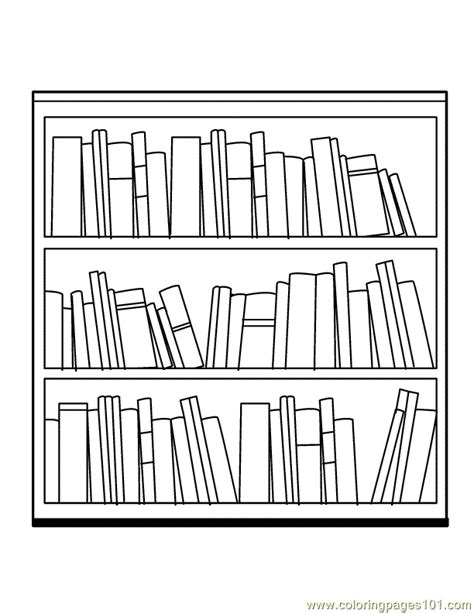 coloring pages bookshelves book shelf coloring page free books coloring pages