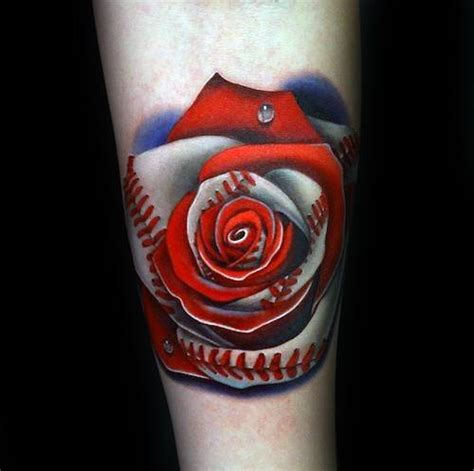baseball rose tattoo 90 realistic designs for floral ink ideas