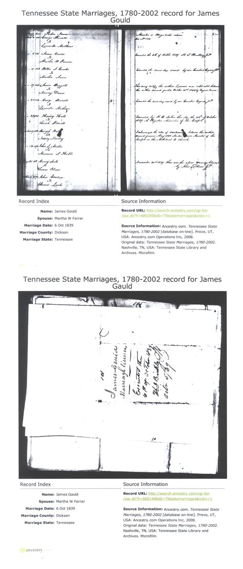 Nashville Tn Marriage Records A W Gould Tombstone Inscription
