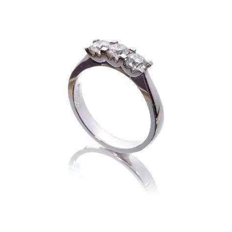 platinum w collection three ring 0 45ct