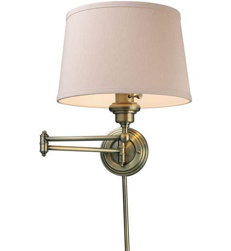 swing arm lighting elk lighting westbrook antique brass 1 light swing arm