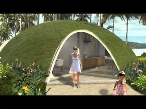 Prefab Small Houses by Colorful Binishell Dome Homes Made From Inflatable