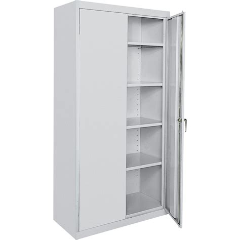 Steel Cabinet Doors Sandusky Commercial Grade All Welded Steel Cabinet 36in W X 18in D X 72in H Light Gray