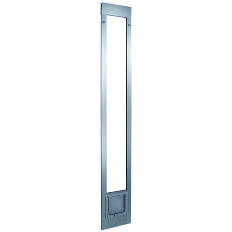 Pet Doors For Patio Sliding Door by Shop Aluminum Pet Patio Cat Flap Small Silver Aluminum