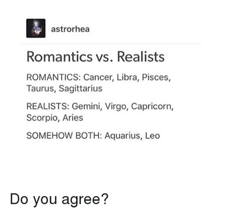 cancer libra pisces astrorhea romantics vs realists romantics cancer libra