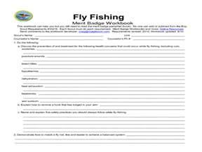 worksheets fishing merit badge worksheet chicochino