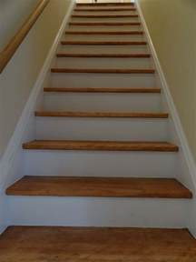 Stair Risers by Chronicles Of A Home Painting The Stair Risers And The Trim